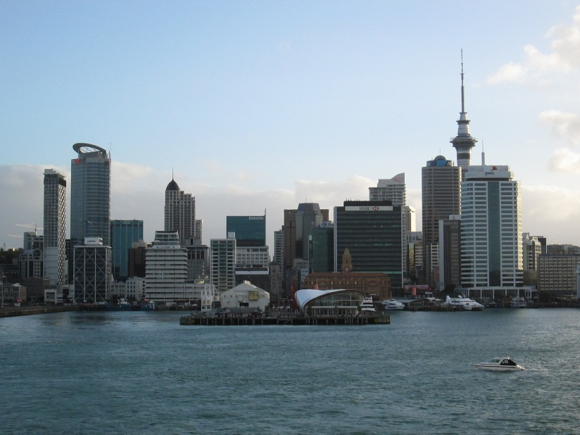 Auckland Skyline from the Dawn Princess (2014, aka gringita)
